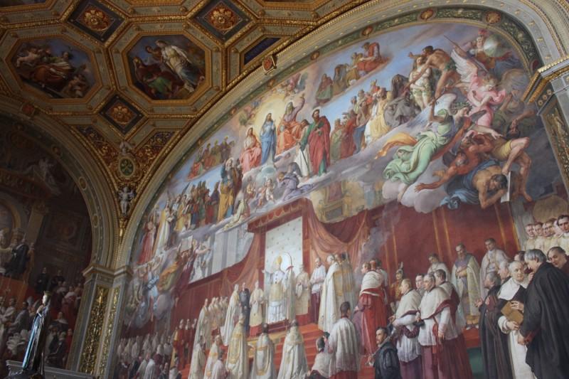 Фрески в музее Ватикана
