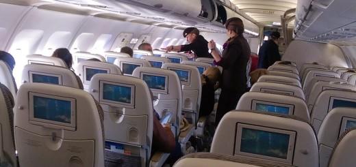 Внутри нашего самолета