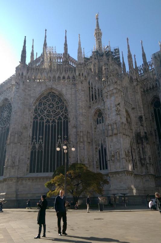 Собор Милана сзади