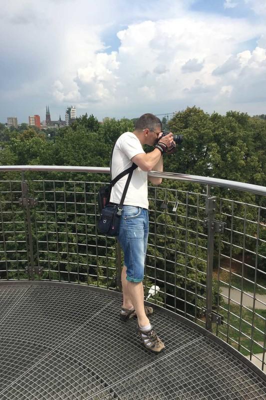 Я на крыше Варшавской библиотеки
