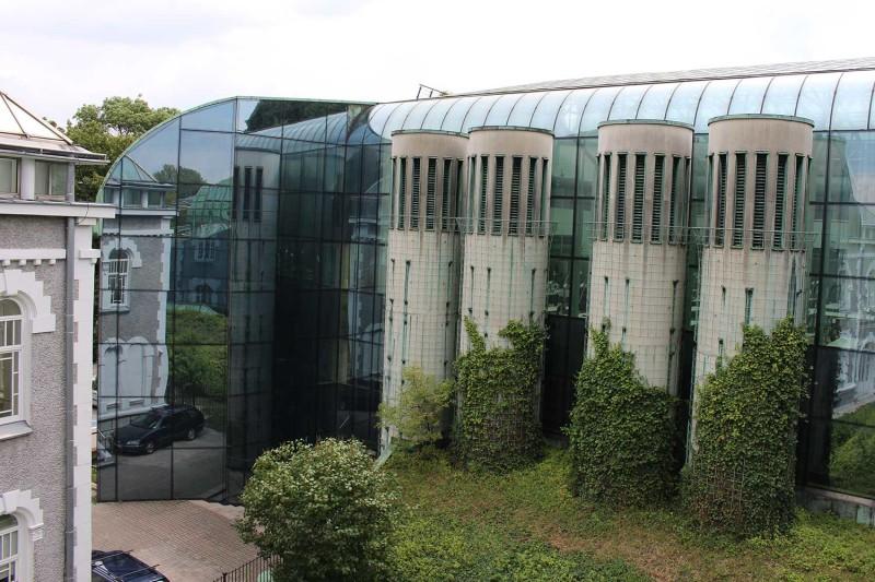 Сад на крыше Варшавской библиотеки