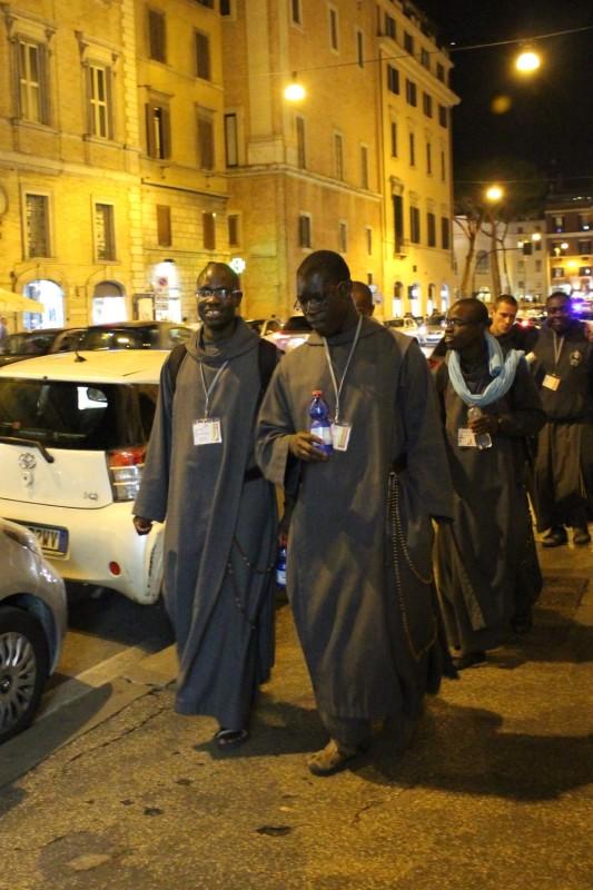 Монахи в Риме