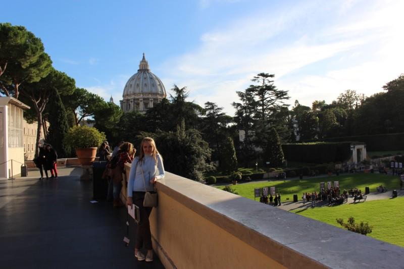 Дворик музея Ватикана