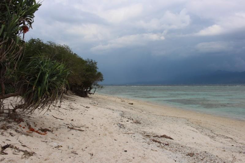 Одни обломки рифов(