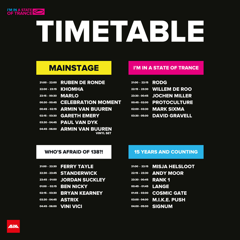 Timetable ASOT 750