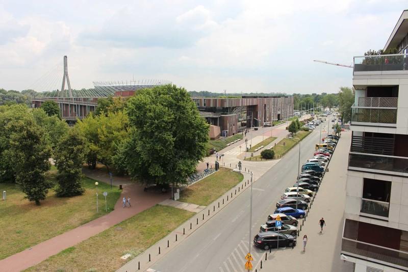 Вид с крыши Варшавской библиотеки