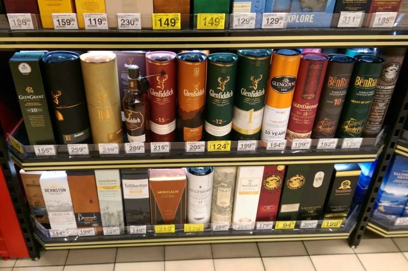 Цены на виски