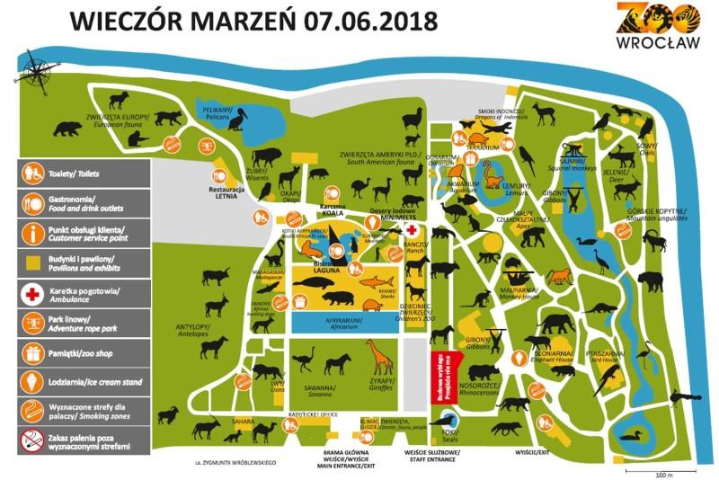 План зоопарка Вроцлав